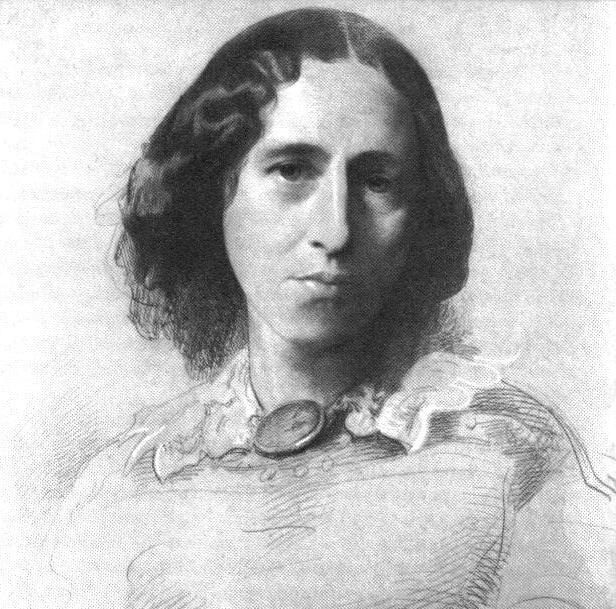 George Eliot, as painted by Samuel Laurence, c. 1860