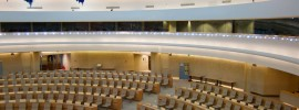 The Human Rights and Alliance of Civilizations Room in the Palace of Nations, as used by the United Nations Human Rights Council