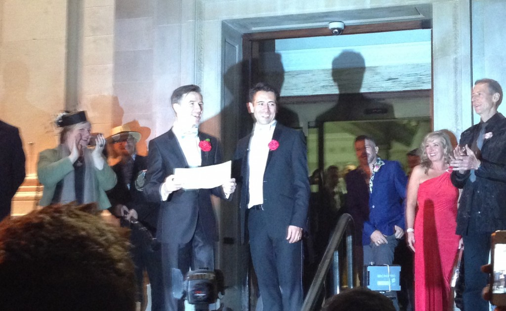 Humanists Peter McGraith and David Cabreza were two of the first couples in the UK to get married under the new laws