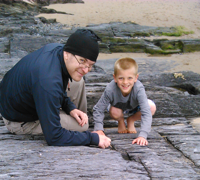 Alex (age 9⅔) with his father, Ian (age 36)