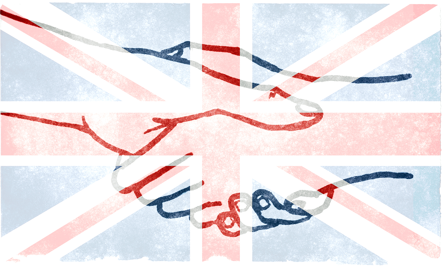 Is pursuing 'British values' the best way to go about pursuing social cohesion? (Flag by Nicolas Raymond. Handshake by Aidan Jones.)
