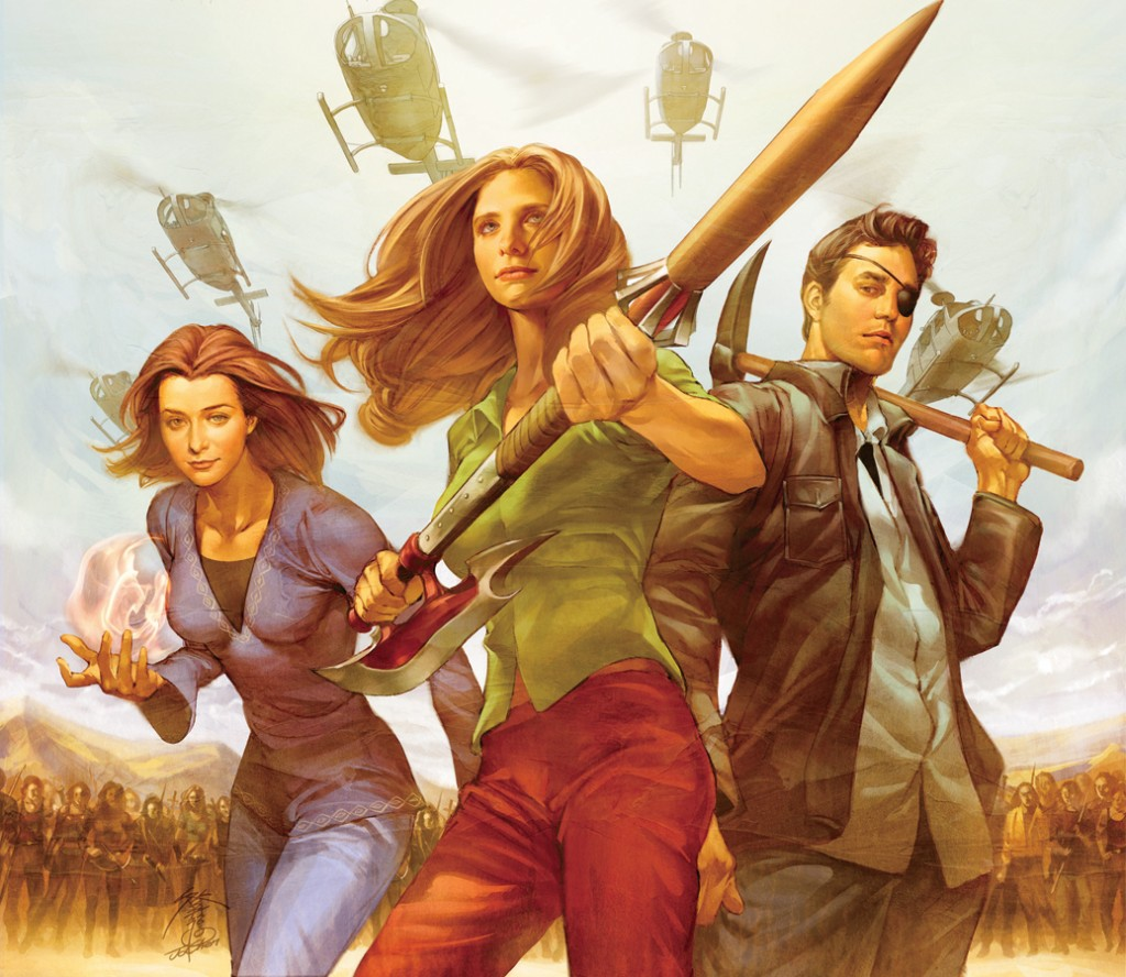 Buffy's enduring popularity hasn't just changed televisions, but several other mediums as well. Art by Jo Chen.
