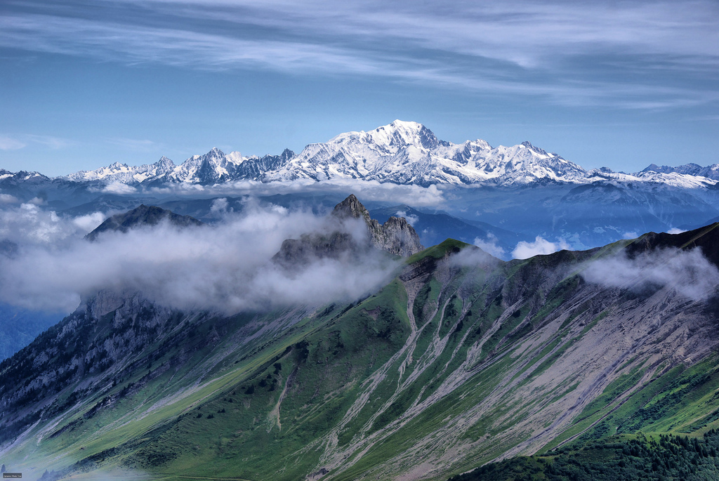 The stunning sight of Mont Blanc, which inspired feelings of the 'sublime' in great writers such as Shelley. Photo: Jean-Raphaël Guillaumin