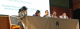 Alom Shaha chaired four Muslim panellists in front of a mainly humanist audience.