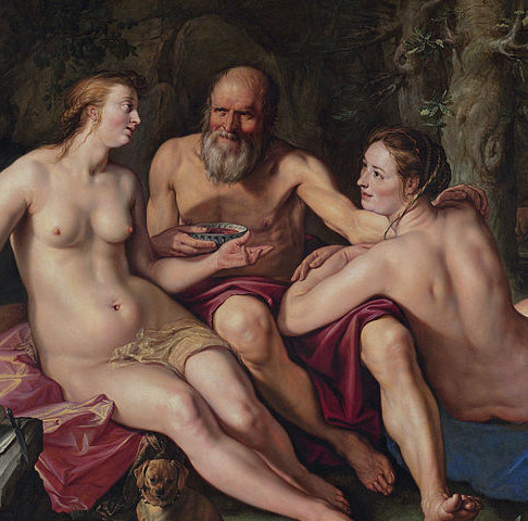 No one's favourite Bible story: Lot and his daughters (Goltzius)