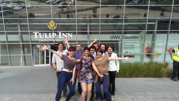 UK delegates to the IHEYO Humanist Weekend arrive in the Netherlands