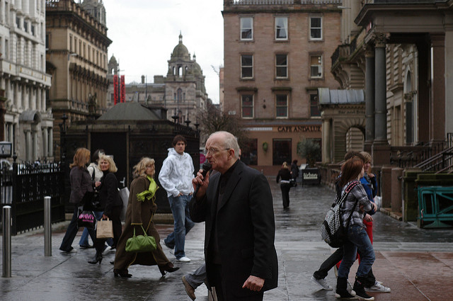 A street preacher on Buchanan Street, Glasgow. Photo: mot/Flickr